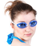 Luxury Quality Fashion Design Adult Blue Mirrored Swim Goggles