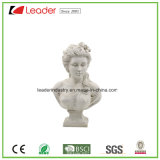Hand-Painted Polyresin Lady Figurine for Home and Garden Decoration