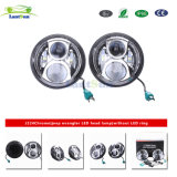 Lantsun J224 High Low Beam DC10-30V Chrome 50W 7inch LED Projector Headlight Fits for Jeep 97-17 Harley