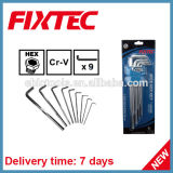 Fixtec Hand Tools Hardware 9PS Set CRV Hex Key Wrench