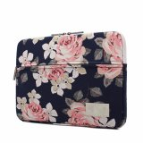 White Rose Pattern 13 Inch Case Computer Sleeve Bag for iPad MacBook