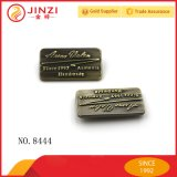 Brush Anti Brass Metal Logo for Leather