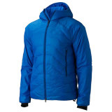 Men Blue Colour Insulated Down Jacket with Hood