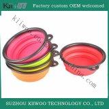 Non-Toxic Food Grade Silicone Colorful Folding Dog Bowls