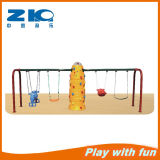High Quality Kids Plastic Swing and Climbing Wall Play