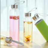 Round Clear Glass Water Bottle