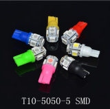 Colorful T10-5050-5SMD Width Lamp LED 194 168 W5w Car Side Wedge Tail Light Lamp Bulbs LED Automobile Parking LED License Plate Lamp Instrument Light Indicator
