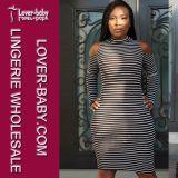 Lady Striped Bodycon Clubwear Casual Dress (L27922)