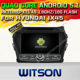 Witson Android 5.1 Car DVD GPS for Hyundai IX45 with Chipset 1080P 16g ROM WiFi 3G Internet DVR Support (A5798)