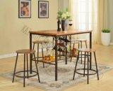 Metal Wooden (Coffee /Bar Pub) Diningtable and Dining Chairs