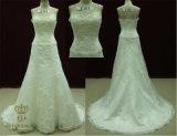 Lace Applique Wedding Dress A-Line Ball Gown Bridal Dress