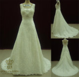 Lace Appliqued Bridal Gown Ivory Wedding Dress 2015
