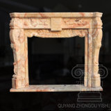 Hot 2018 Product of Songxiang Jade Marble Fireplace Sculpture