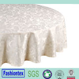 Round Jacquard Table Cloth for Wedding/Event/Party/Banquet