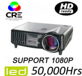 Supported 50000 Hours Lamp Life Home Cinema Projector
