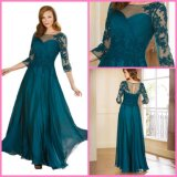 A-Line Evening Prom Party Gowns Lace Chiffon Bridesmaid Dresses Z630