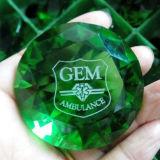 Crystal Glass Diamond with Sandblasting or Color Print
