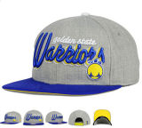 Gray Pipe Fitting Embroidery Cool Snapback Cap