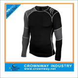 Men Athletic Wear Fitness Wear Compression Sports Shirt with Reflective Printing