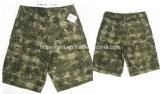 Casual Print Jeep Cotton Cargo Jogger Washing Pants for Man