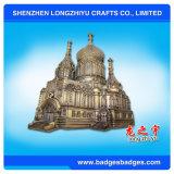 Custom Die Casting Zinc Alloy 3D Castle Metal Nameplate