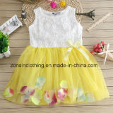 Girls′ Princess Dresses with Flowers Children Clothes