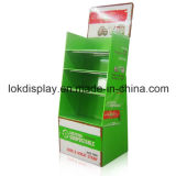 Glossy Lamination Paper Floor Display Shelf Corrugated Display Rack, Psdf, Pop Display