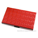 Newly Design Woven Leather Business Card Holder (BS-L-078)