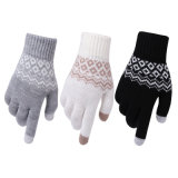 2020 Knitted Pattern Warm Touch Screen Gloves