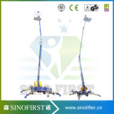 10m 12m Street Lamp Maintenance Mobile Towable Articulating Lift