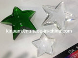 Green Optic Crystal Star Paperweight & Blank Crystal Crafts (KS11022)