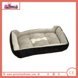 Soft Pet Bed in Black and Brown