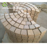 G682 Yellow Granite Meshed Fanshape Garden Patio Paving Stone