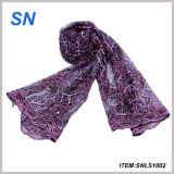 2014 Fashion Lace Scarf Shawl Wrap Sequin Floral Art Pattern