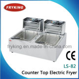 Double Tanks Electric Open Fryer for Restaurant