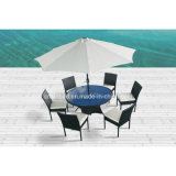 Wicker Dining Table for Outdoor, Indoor with 6 Chairs / SGS (6214)