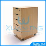 5 Drawer Bamboo Office Cabinet