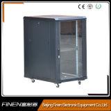 Floor Standing Glass Door Rack Cabinet 19inch