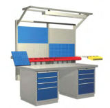 Customizable ESD Steel Work Bench with Drawers