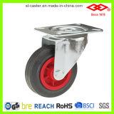 Swivel Plate Black Rubber Casters (P102-31D080X25)