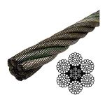 Ungalvanized 6*37 Iwrc Wire Rope with Ce Certificate