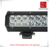 LED Car Light of 12inch 72W Double Row LED Light Bar Waterproof for SUV Car LED off Road Light and LED Driving Light