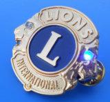 Lions LED Badge with LEDs (AS-LED Badge-LU-121)