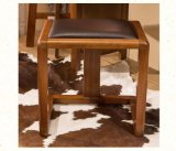 Solid Wooden Stool Leather Stool Dressing Stool (M-X2074)