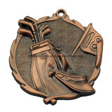 Factory Custom 3D Relief Die Cast Medal with Antique Finish