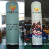 Inflatable Party Pillar Decoration Colorful with Print