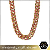 12mm Iced out Hip Hop Cuban Link Chain Necklace Mjcn022
