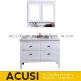 High Quality Solid Wood Modern White Bathroom Vanity (ACS1-W64)