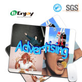 Custom Design Hard Plastic Top Mouse Pad with Rubber Back