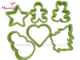 Food Grade Plastic PP Cookie Cutter Set of 6PC 10*5.2cm